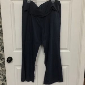 Old Navy Full Panel Maternity Wide Leg Linen Pants